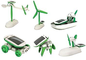 6 en 1 para la Educación Kit Solar Robot Energía - la transformación de juguete robo - kit de construcción: Amazon.es: Juguetes y juegos
