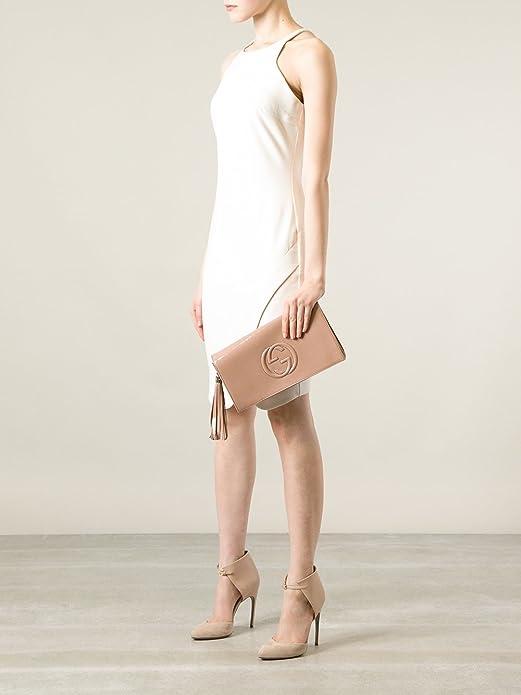 11e4fc5d282e Amazon.com: Gucci Soho Leather Clutch Envelope Black Bag Tassel Handbag  New: Shoes