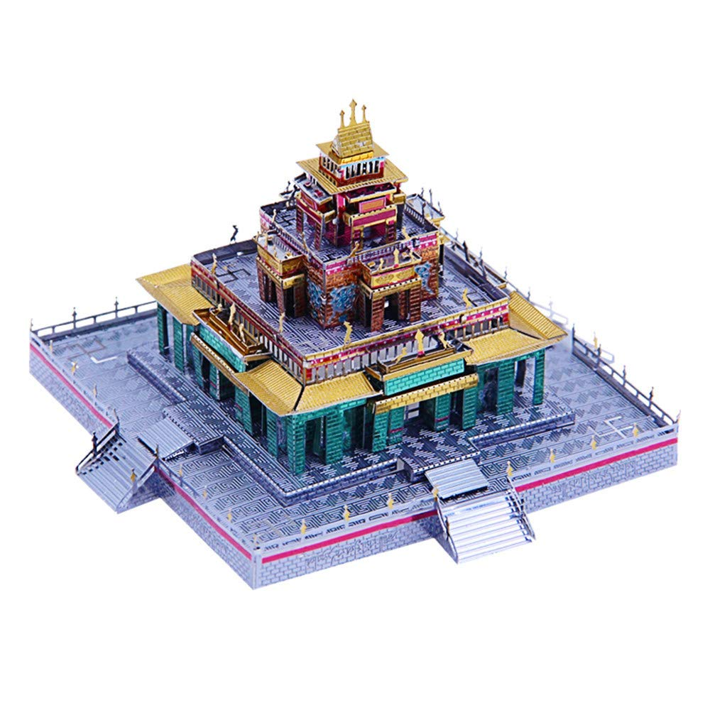 MQKZ 3D Metal Puzzle/China - Buddha Temple/Architectural Model ...