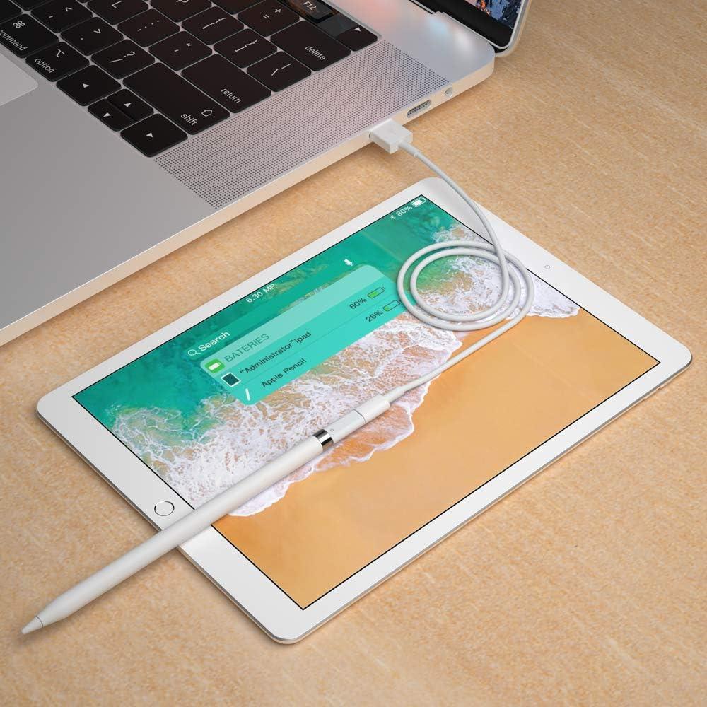 Nero ACOCOBUY Compatibile con Apple Pencil Adattatore iPencil Adattatore per Apple Pencil 1 Generazione Femmina a Femminper per iPad PRO 12,9 Pollici 10,5 Pollici 9,7 Pollici