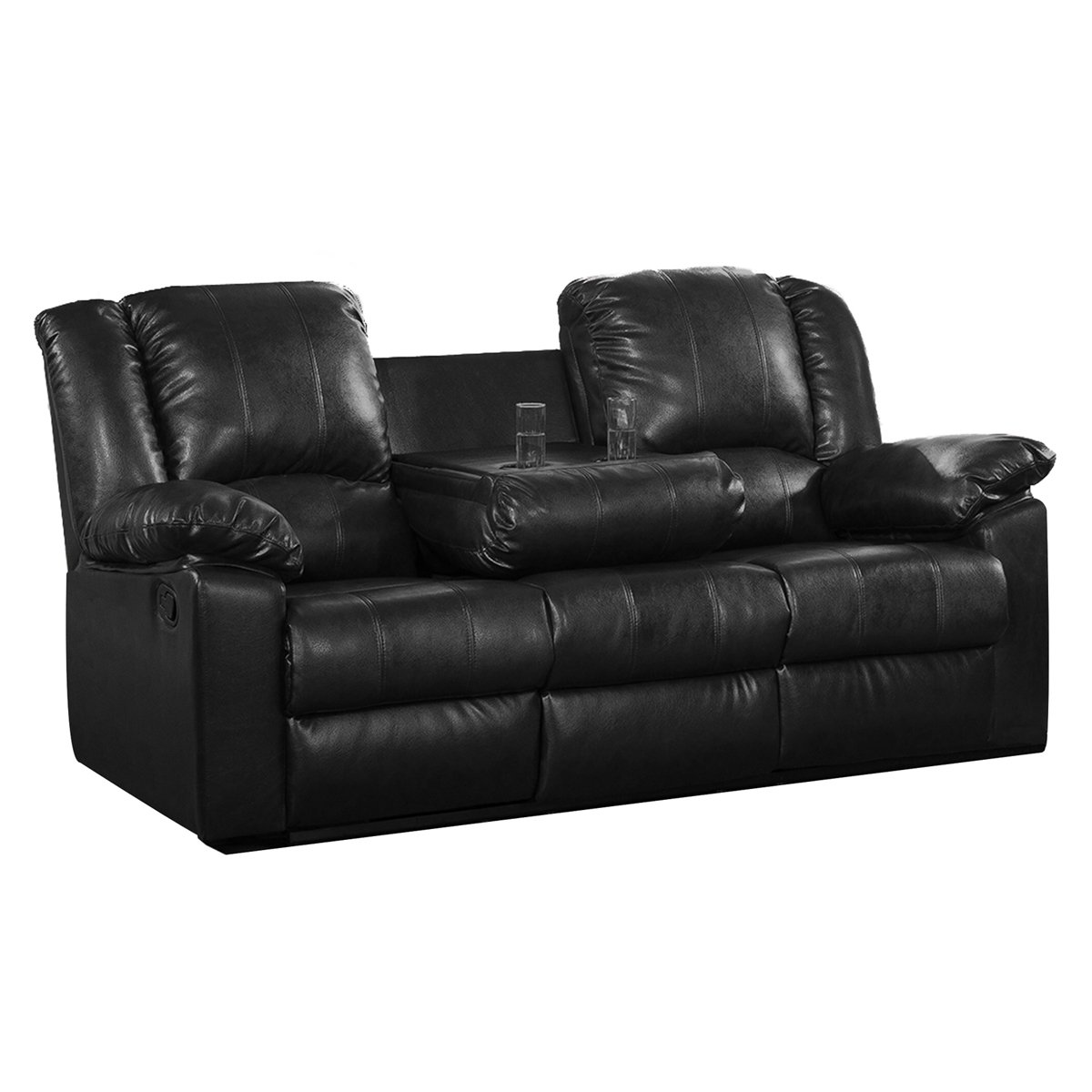Amazon.com Milton Greens Stars Burgas Reclining Sofa with Drop-Down Cup Holder 81 by 38 by 40-Inch Black Kitchen u0026 Dining  sc 1 st  Amazon.com : black reclining sofa set - islam-shia.org