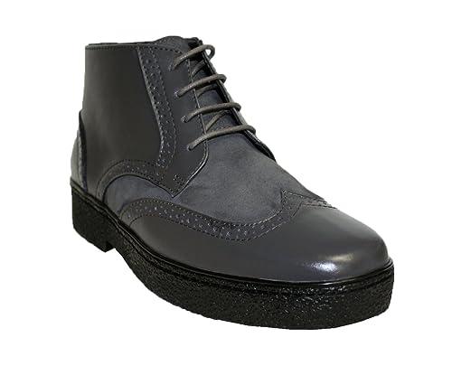 Amazon Com Rocker British Style Chukka Wingtip Mens Grey Leather