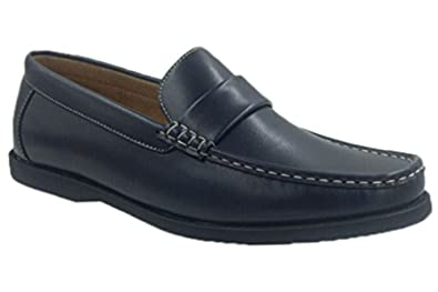 Andrew Fezza AF-1966 FBM SAM Mens Slip-On Versatile Loafer Shoes, Navy