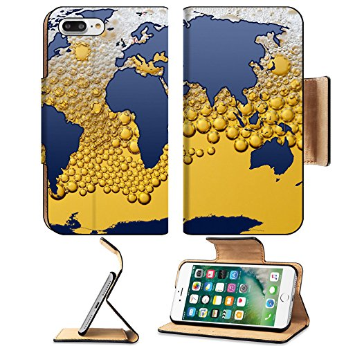 MSD Premium Apple iPhone 7 Plus Flip Pu Leather Wallet Case The world beer IMAGE 35508591 (Pub Breeze)