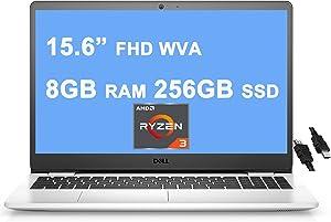 "Dell 2021 Flagship Inspiron 3000 3505 15 Laptop 15.6"" FHD WVA Narrow Border Display AMD Ryzen 3 3250U (>i7-7600u) 8GB RAM 256GB SSD AMD Radeon Graphics Win10 Snow White + iCarp HDMI Cable"" /></a></div> <div class="