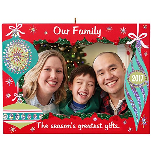Hallmark Photo Holder (Hallmark Keepsake 2017 Our Family Greatest Gifts Picture Frame Dated Christmas Ornament)