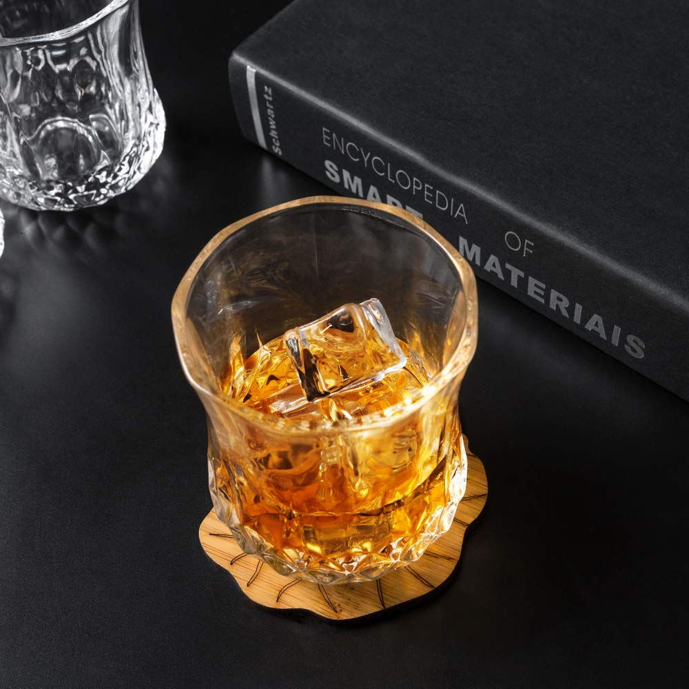 KANARS Small Whiskey Glasses With Unique Elegant Gift Box for Scotch, Bourbon Or Old Fashion Cocktail (7 Oz, Set of 4) by KANARS (Image #10)