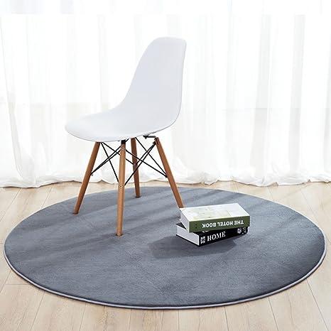 Amazon Com Solid Color Round Carpet Cozy Rug Mat Coffee Table