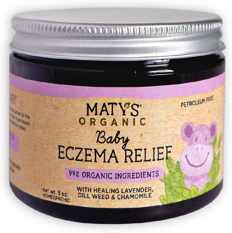 Maty's Organic Baby Eczema Relief, Heals with Organic Lavender & Chamomile, 5 Ounce