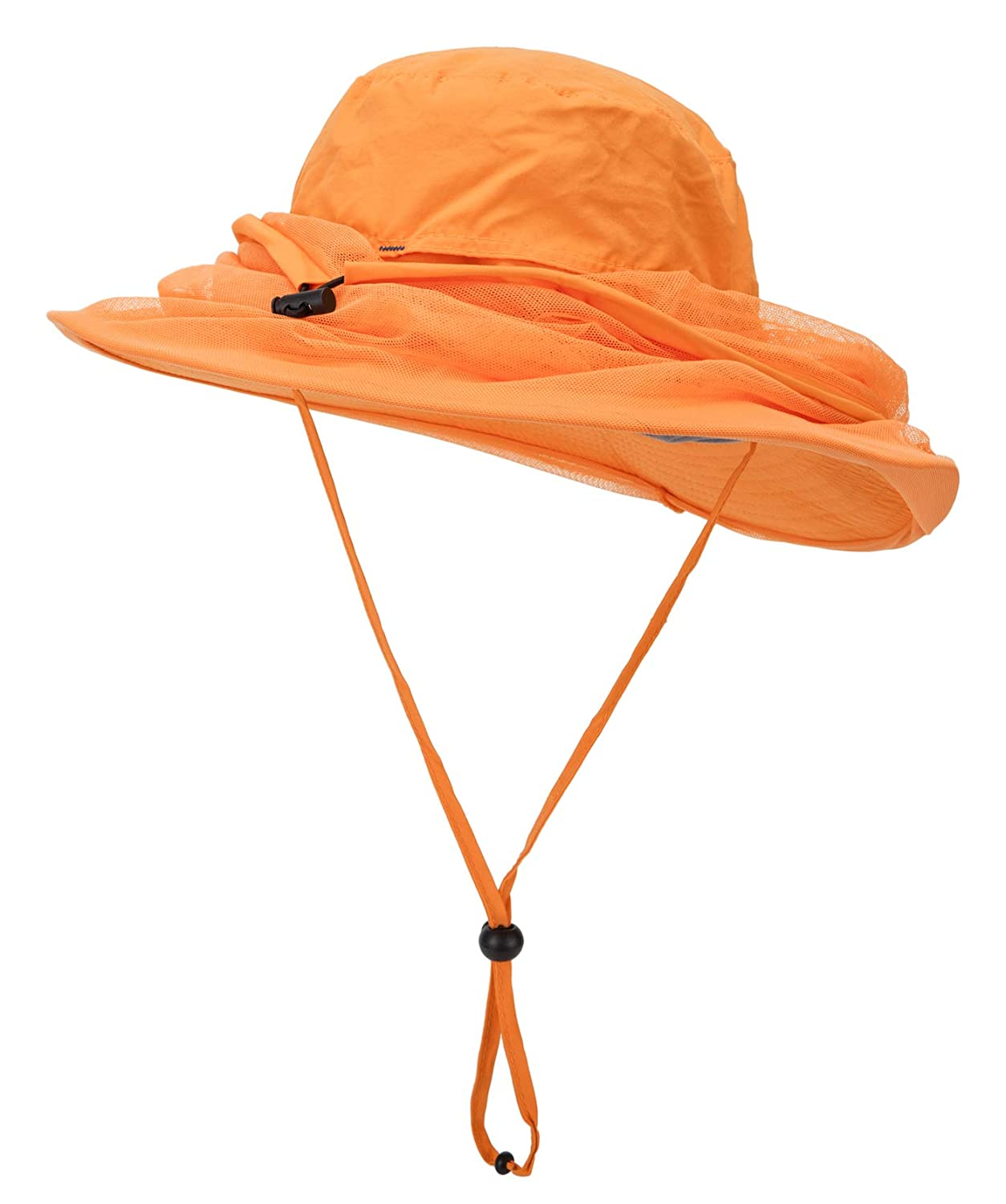 Decentron Outdoor Anti-mosquito Boonie Hat with Head Net Mesh Face Protection Fishing Hats