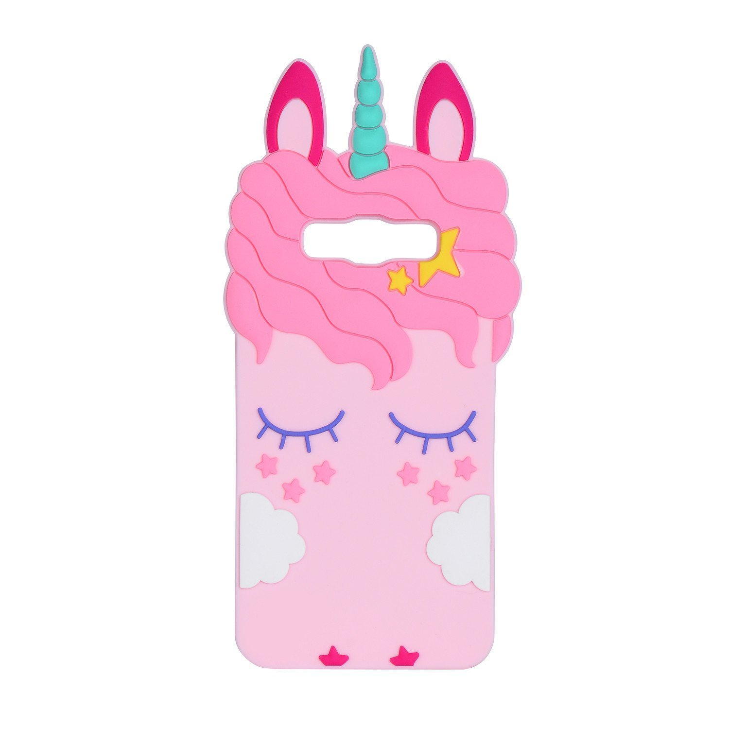 Unicorn Case for Galaxy G530 3D Cover, SevenPanda Silicone Cartoon Star Eyelash Eyeball Design Funny Shockproof Case Soft Protection for Samsung Galaxy Grand Prime/G530H/G5308/SM-G530 - Pink Unicorn G530-JieMaoMa-Fen