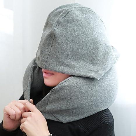 6e045baa86 Tookie Cuscino da collo con cappuccio, portatile gonfiabile cuscino da  viaggio con cappuccio, perfetto