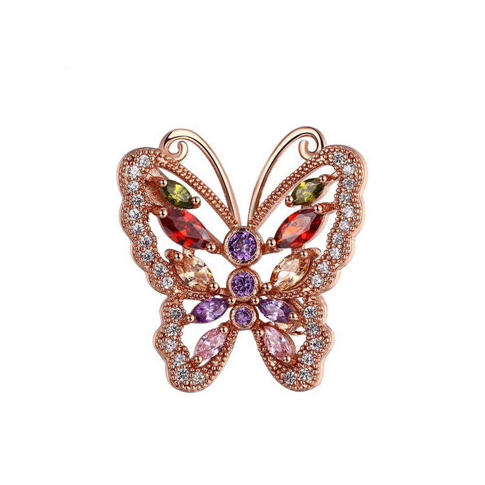 Butterfly Brooch for Women - Rose Gold AAA Zircon Crystals - Mall of Style