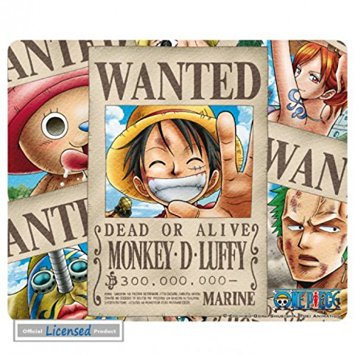 One Piece Mouse Pad - Wanted Pirates (9 x 7 inches)
