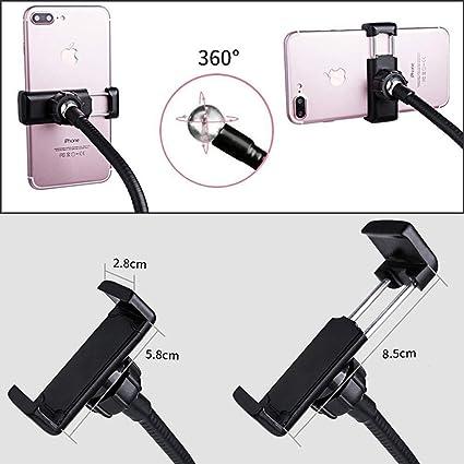 Suitable for Live Fill Light Etc. DHINGM Mini Studio LED Camera Ring Dimmable Fill Light Color : White Mobile Phone Self-Timer Lamp