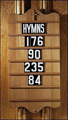 Maple Hardwood Wall Mount Hymn Board