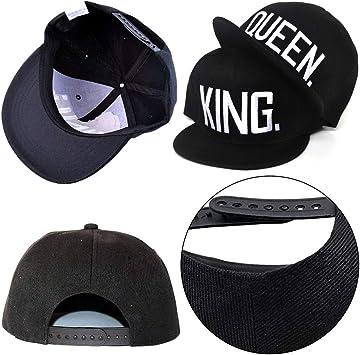 EQLEF/® Berretto da Baseball per Gli Amanti o Coppia Regina e re-Black