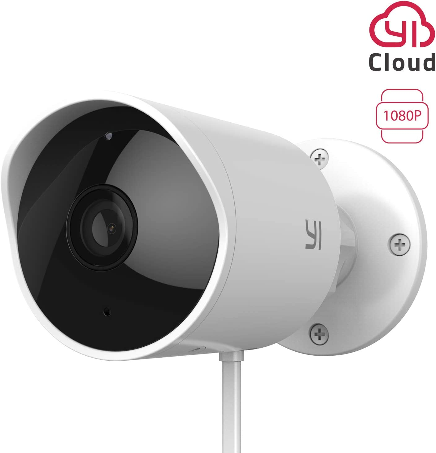 YI Outdoor Camera 1080p Home Security Surveillance IP Camera Wifi CCTV Bullet Camera Waterproof with Night Vision Two way Audio Motion Detection –