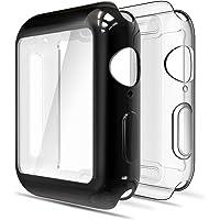 Simpeak Funda para Apple Watch 44mm [2 Unidades], Funda Apple Watch Series 4 Slim Suave TPU Protector de Pantalla de Metálico Ligero Anti-Arañazos,Oro Rosa+ Negro