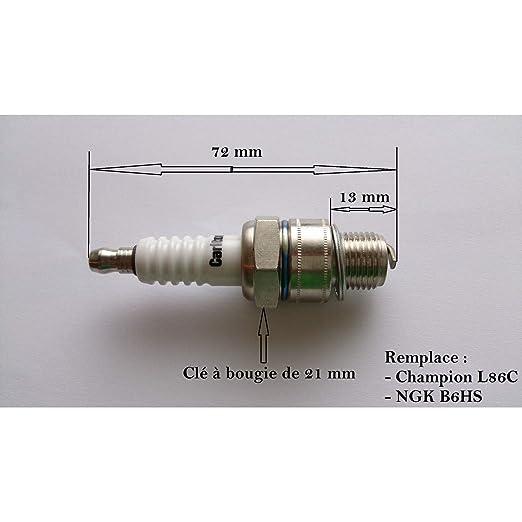 Bujiàs para motor de 2 tiempos reemplaza B6HS y L86C: Amazon.es ...