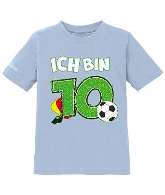 Ich Bin 10 Fussball 10 Geburtstag Jungen Kinder T Shirt