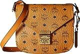 MCM Women's Patricia Saddle Bag, Cognac, One Size