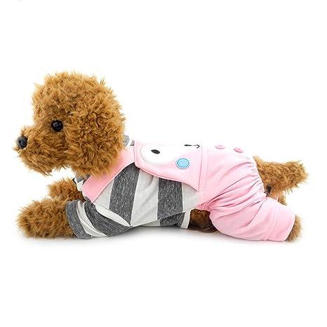 Ranphy Traje de chihuahua para perros, diseño de rayas con ...