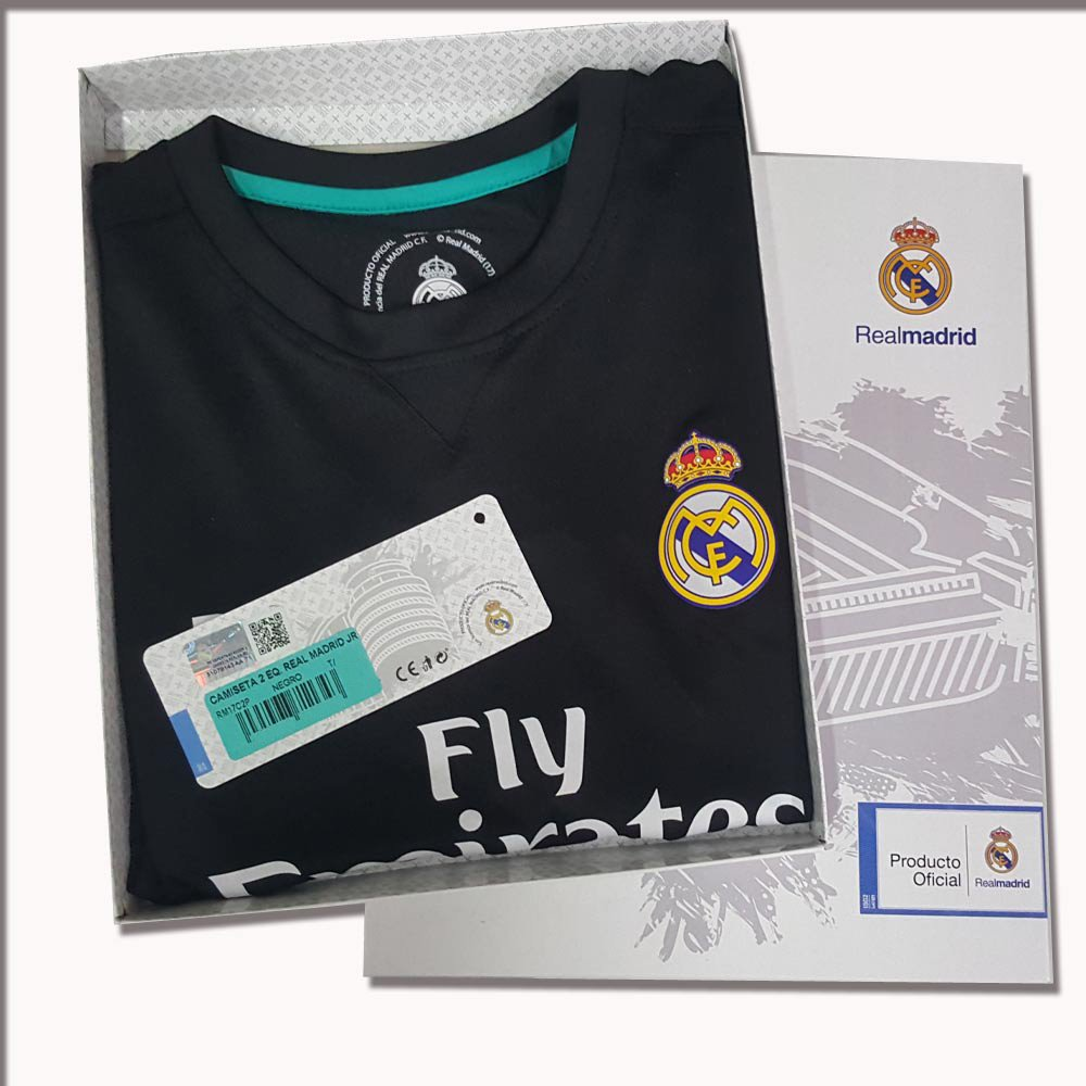 Rogers Uniforme Real Madrid Réplica Oficial Junior Segunda Equipación
