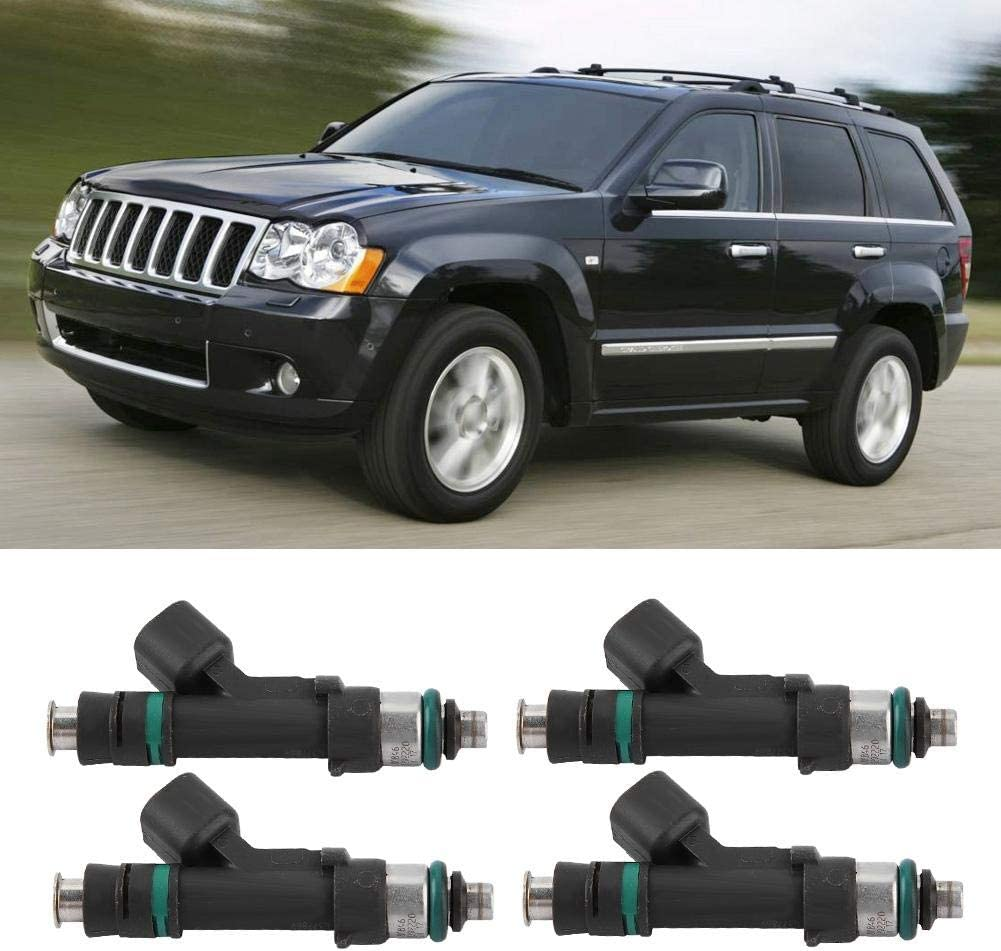 Cuque 4 Pcs Fuel Injector Nozzle for Jeep Wrangler 2007 2008 2009 2010 Dodge Grand Caravan 2008 2009 2010 Chrysler Town /& Country 2008 2009 2010 OE# 0280158119 04861667AA 812-11131