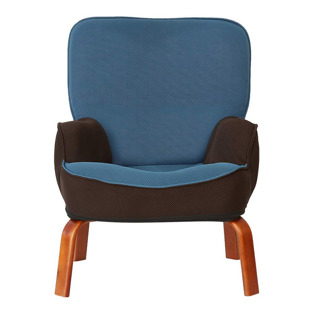 Bodenstuhl, Faltendes Baby-Sofa-Lesestuhl-reizendes Couch-Kindergarten-faules Sofa für Jungen-Mädchen scherzt Kinder (Farbe : Blau)