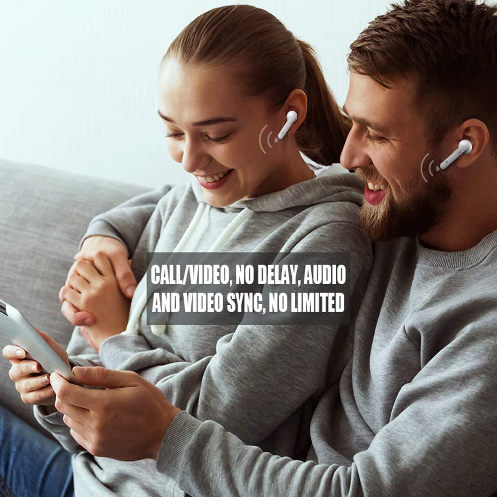 White V5.0 TWS Wireless Earphone Smart Voice Control Hi-Res Sound ...