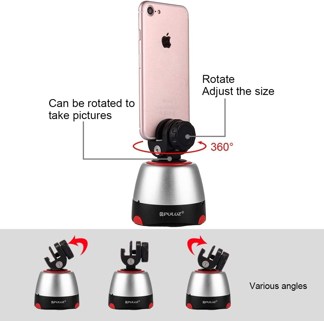 Tripods Monopods Xllcrh Electronic 360 Degree Rotation Panoramic Head with Remote Controller for Smartphones DSLR Cameras Yellow Color : Red GoPro