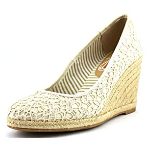 Unlisted Kenneth Cole Finally Women Ivory Wedge Sandal