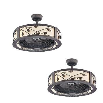 Amazon set of 2 allen roth eastview 23 in aged bronze set of 2 allen roth eastview 23 in aged bronze downrod mount ceiling fan aloadofball Gallery