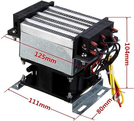GRASSAIR Calentadores Eléctricos Temperatura Constante Industrial PTC Ventilador Calefactor 400W 220V AC Incubadora Ventilador Aire Calentador Dispositivo De Secado ...