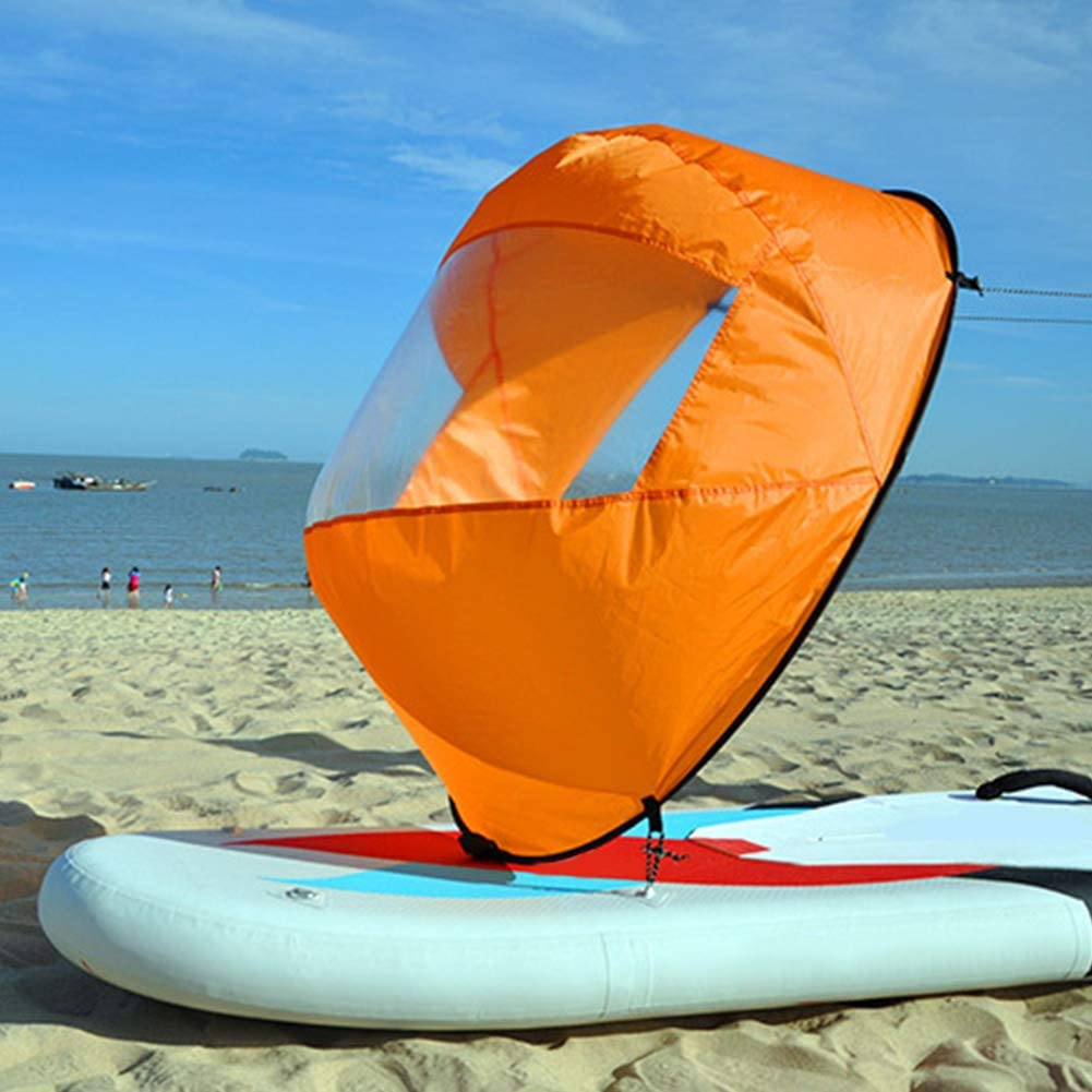 ultraligera vela de canoa Vela de viento vela de remo vela plegable para kayak port/átil vela de viento de Downwind para kayak barco
