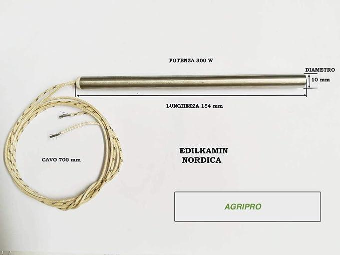 Agripro - Resistencia de encendido para estufa de pellet (10 x 154, 300 W): Amazon.es: Bricolaje y herramientas