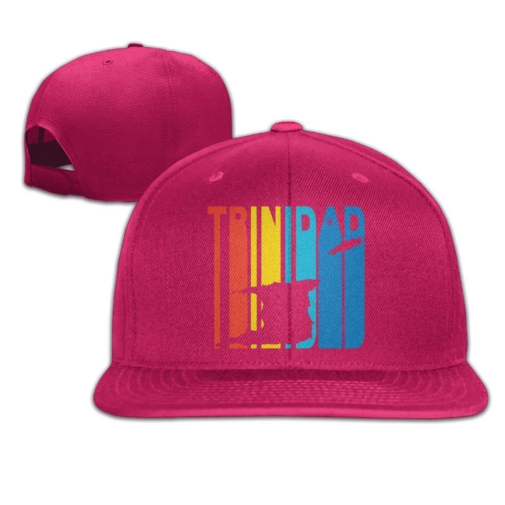 An Ping Trinidad Retro 1970's Style Baseball Cap for Men Women Flat Brim Trucker Hats