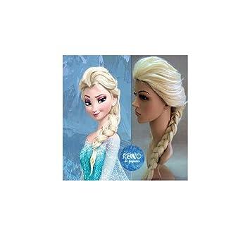 Reino de juguetes - Peluca Inspirada en Elsa Adulto-Niño