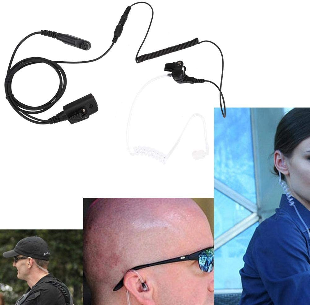 Entertainment Hotels Black Restaurants etc. Zopsc Walkie Talkie Air Acoustic Tube Earpiece Headset for HYT Hytera PD600 PD602 PD605 Radio Applicable to Retail