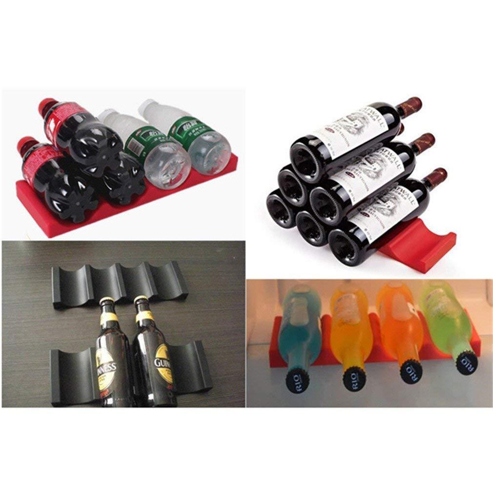 r/éfrig/érateur barbecue Rangement pour bouteilles de vin Organiseur en silicone Jin Can- Bo/îte de rangement pour bouteilles et bo/îtes de conserve en silicone rouge Pour cuisine f/ête Lot de 2
