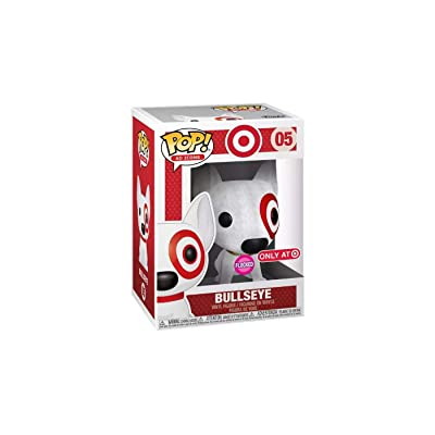 Funko POP! Ad Icons - Target Dog Bullseye (Flocked) #5 - SDCC 2020 Exclusive Debut: Toys & Games