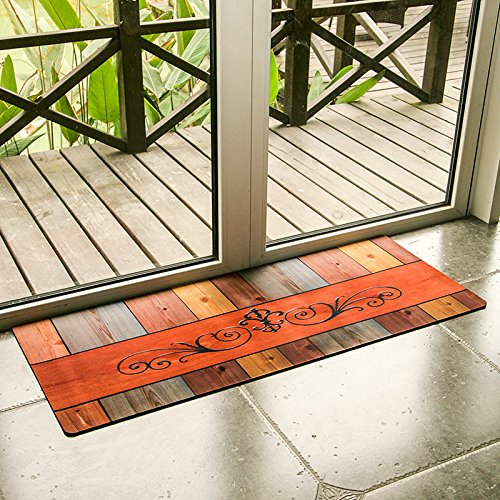 Ustide Sliding Door Rug Rubber Backed Mat Washable Nonslip Doormat Cheap Carpet Runner Waterproof Wiper Floor Mats for Laundry/Warehouse