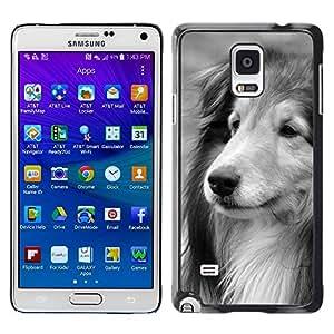 TopCaseStore / la caja del caucho duro de la cubierta de protección de la piel - Collie Shetland Sheepdog Longhair Dog - Samsung Galaxy Note 4 SM-N910