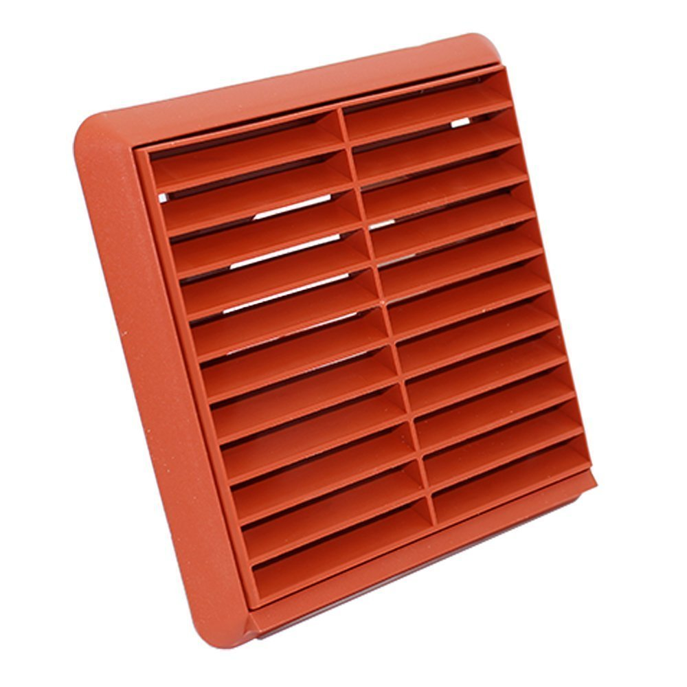 Anti-Insect Mesh Duct Cover Brick Round Air Vent Grille 100mm with Fly Screen