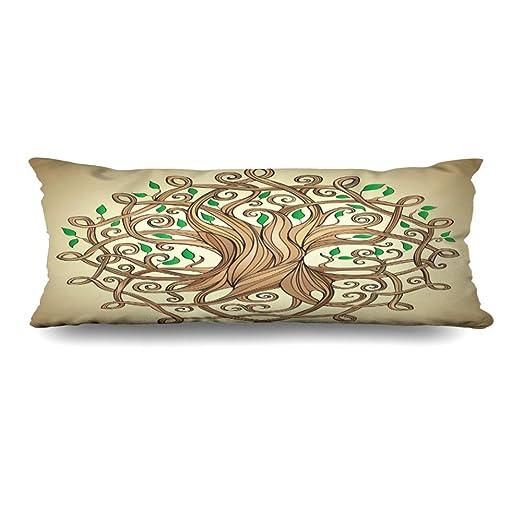 Ahawoso - Funda de almohada para el cuerpo de 20 x 54 ...