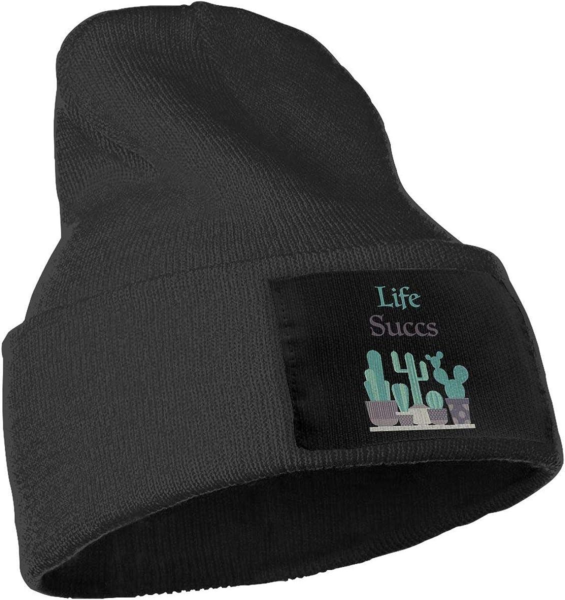 Fgeffs8 Life Succs Men Women Knit Beanie Hat Soft Ski Skull Cap