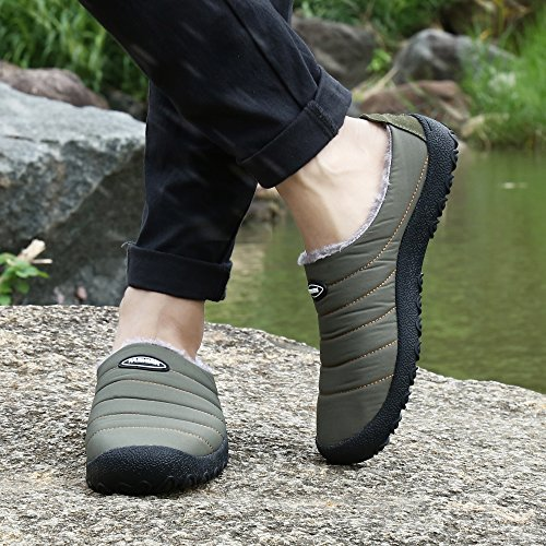 Anti Fashion Khaki Blue Warm Slip Outdoor Shoes Slip Waterproof Indoor Men On Black Women Shoes Tan Slipper Sneaker Winter Snow wIfPq