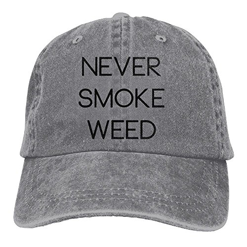 Richard Never Smoke Bad Weed Unisex Cotton Washed Denim Leisure Caps Hats Adjustable Ash