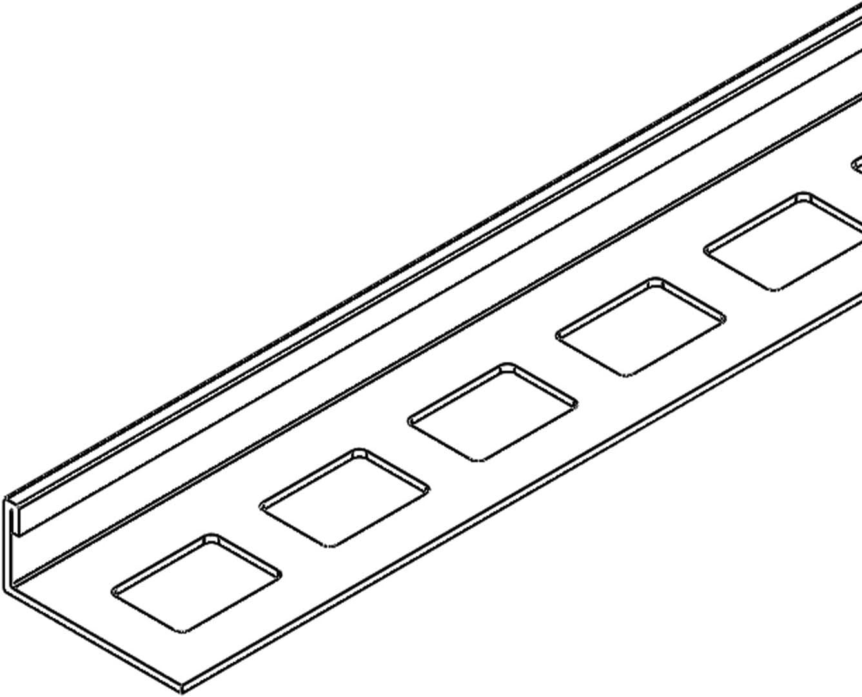 HORI Fliesenprofil I L/änge 2,50 m I Au/ßenecke rund I H/öhe 12,5 mm I Edelstahl massiv geb/ürstet
